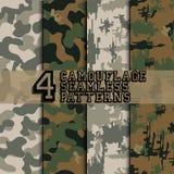 Uppsättning av kamouflage vektor illustrationer
