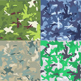Uppsättning av kamouflagemilitärbakgrund Royaltyfri Illustrationer