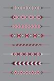 Uppsättning av kamratskaphippyarmband vektor illustrationer