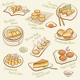 Uppsättning av kinesisk mat. Arkivfoto