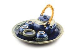 Uppsättning av kinesiskt te Arkivbilder