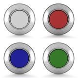 Uppsättning av knappar Royaltyfri Fotografi