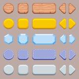 Uppsättning av knappar för lek Arkivfoto
