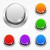 Uppsättning av knappar för vektorrundarengöringsduk Royaltyfri Fotografi