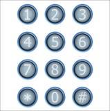 Uppsättning av knappar med nummer Royaltyfri Bild