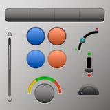 Uppsättning av knappar och menyer för dina websites och program Royaltyfria Bilder
