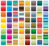 Uppsättning av knappsymboler för din design Arkivfoto