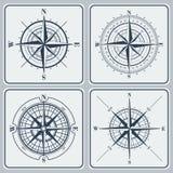 Uppsättning av kompassrosor (windroses) Royaltyfria Foton