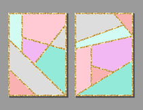 Uppsättning av konstnärliga färgrika universella kort Bröllop årsdag, födelsedag, ferie, parti stock illustrationer