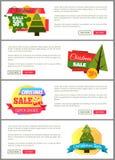 Uppsättning av kort för kostnad för julSale toppna primaa halva Royaltyfria Bilder