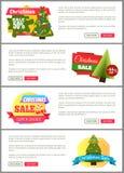 Uppsättning av kort för kostnad för julSale toppna primaa halva Royaltyfri Foto