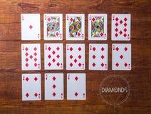 Uppsättning av kortdiamanter Royaltyfri Fotografi