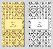 Uppsättning av kortet för malltappninghälsning Royaltyfria Foton