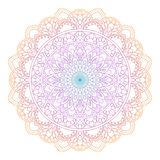 Uppsättning av kortet för tappningbröllopinbjudan med Mandalamodellen och i färg Meditationbeståndsdel för Indien yoga Prydnad royaltyfri illustrationer