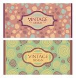 Uppsättning av kortet i retro stil Fotografering för Bildbyråer