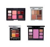 Uppsättning av kosmetiska paletter Arkivbild