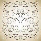 Uppsättning av krusidullar och karaktärsteckningar royaltyfri illustrationer