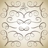 Uppsättning av krusidullar och karaktärsteckningar vektor illustrationer