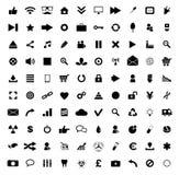 Uppsättning av 100 kvalitets- symboler Royaltyfria Foton