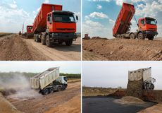 Uppsättning av lastbilen arkivfoton