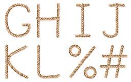 Uppsättning av latinska rep-tecken på vit Royaltyfri Foto