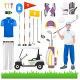 Uppsättning av leken för golf vektor illustrationer