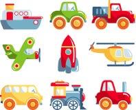 Uppsättning av leksaktrans. royaltyfri illustrationer