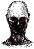 Uppsättning av levande dödhuvud stock illustrationer