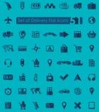 Uppsättning av leveranssymboler Arkivbilder