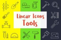Uppsättning av linjära symboler vektor illustrationer