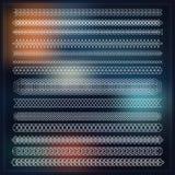 Uppsättning av linjen geometriska beståndsdelar för hipstertappningdesign Arkivbilder