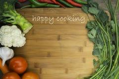 Uppsättning av livsmedel och matlagningsleven Royaltyfri Bild