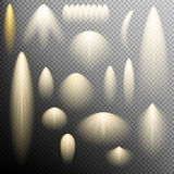 Uppsättning av ljus effekt för glöd 10 eps Fotografering för Bildbyråer