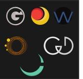 Uppsättning av logobeståndsdelen Arkivbilder
