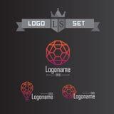 Uppsättning av logoer för affär Arkivbilder