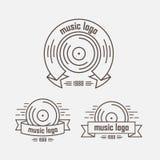 Uppsättning av logomusikalriktningen Arkivfoton