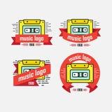 Uppsättning av logomusikalriktningen Arkivbild