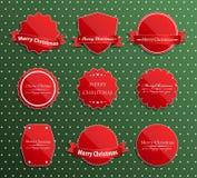 Uppsättning av lyxiga etiketter för jul. Fotografering för Bildbyråer