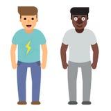 Uppsättning av människan som uttrycker positiva sinnesrörelser Uppsättning av gladlynt folk med lyckliga ansiktsuttryck bakgrunds vektor illustrationer