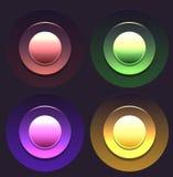Uppsättning av mångfärgade knappar Fotografering för Bildbyråer