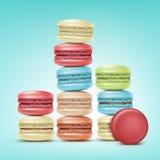 Uppsättning av Macarons stock illustrationer