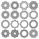Uppsättning av magi som knyter cirklar Arkivfoto