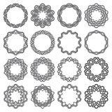 Uppsättning av magi som knyter cirklar Arkivbilder