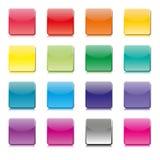 Uppsättning av mallar av färgsymboler, vektorillustration Royaltyfri Fotografi