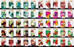 Uppsättning av mallar för reklamblad för geometrisk design för affär Royaltyfri Foto
