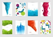 Uppsättning av mallräkningar för reklambladet, broschyr, baner, broschyr, bok, format A4 Räkningsorienteringsdesign Arkivfoton