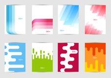 Uppsättning av mallräkningar för reklambladet, broschyr, baner, broschyr, bok, format A4 Räkningsorienteringsdesign Arkivbild