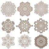 Uppsättning av mandalas Etniska dekorativa beståndsdelar Islam arabiska Royaltyfria Bilder