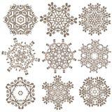 Uppsättning av mandalas Etniska dekorativa beståndsdelar Islam arabiska, Indi Royaltyfri Foto