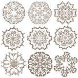 Uppsättning av mandalas Etniska dekorativa beståndsdelar Islam arabiska, Indi Royaltyfri Bild